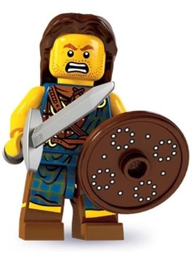 Lego Lego Minifigür - Seri 6 - 8827 - Highland Battler Renkli